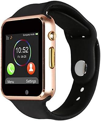 Reloj inteligente de pulsera, Kivors A1, apto para tarjeta TF ...