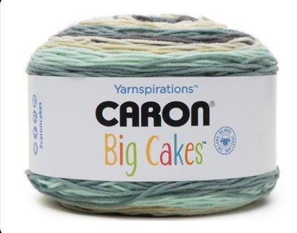 Caron Big Cakes Self Striping Yarn ~ 603 yd/551 m/10.5oz/300 g Each (Afternoon Tea (Yarn Tea)