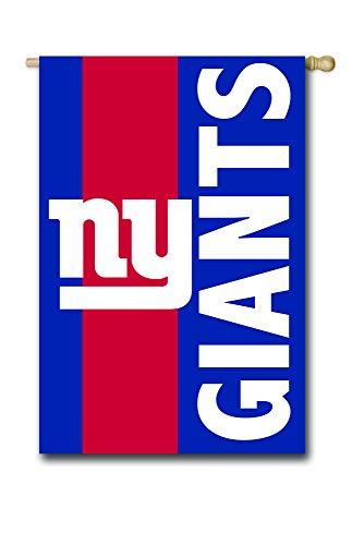 Team Sports America NFL New York Giants Double-Sided Applique Embellish House Flag
