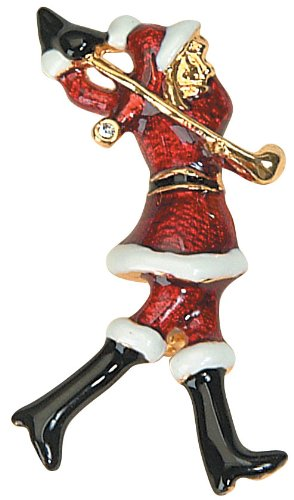 Mrs. Claus Golfer Christmas Pins- Set of 2 - Navika Holiday ()