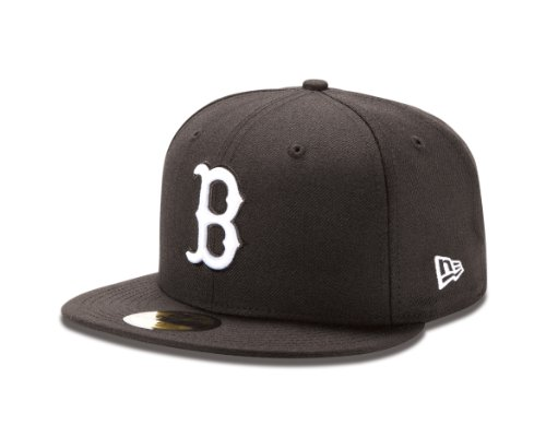 MLB Boston Red Sox Black with White 59Fifty Baseball Youth Cap