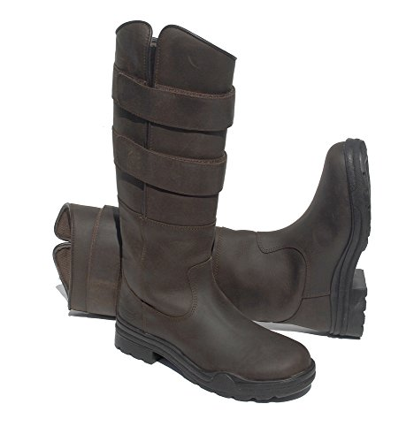 Junior Leather UK5 Country Stable Boots Childrens Brown Rhinegold Long UK13 qx7COOd