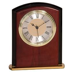 Personalized 6 1/2 Mahogony Finish Square Arch Clock - BRAND NEW