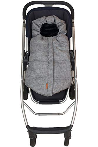 Fleece Stroller - liuliuby CozyMuff – Reinvented Weatherproof Footmuff for Infant - Universal Fit for Strollers with Temperature Control (Heather Gray)