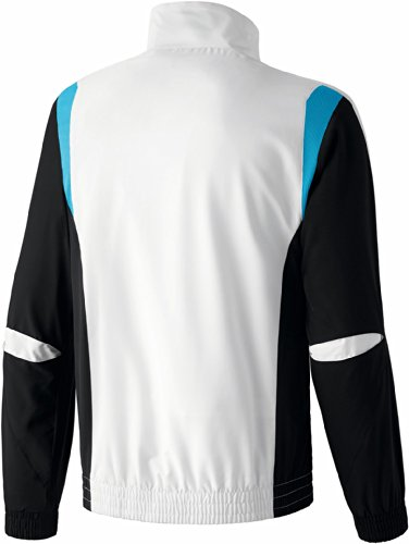 erima Anzug Premium One Präsentationsjacke - Chaqueta (Weiß/Schwarz/Curacao)
