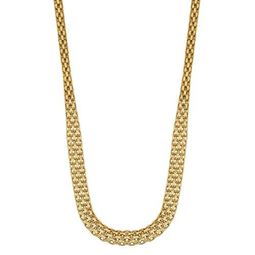 Kooljewelry 14k Yellow Gold Graduated Bismark Necklace (17 inch)