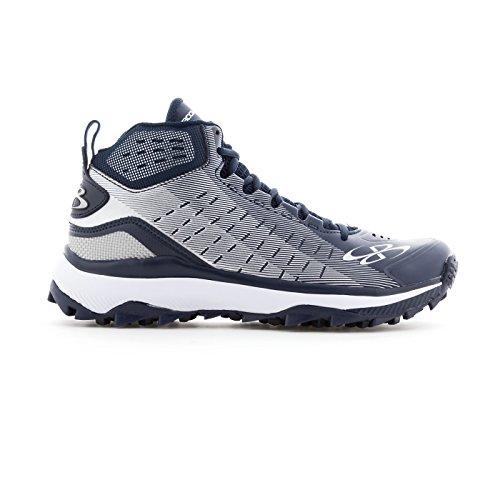 Boombah Mens Catalyst Mid Turf Shoes - 10 Opzioni Di Colore - Più Taglie Navy / Grigio