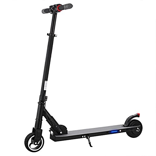 Leoneva S1 Lightweight Foldable Electric Scooter 16MPH with Headlight Adjustable Hand Bar (BLACK) by Leoneva