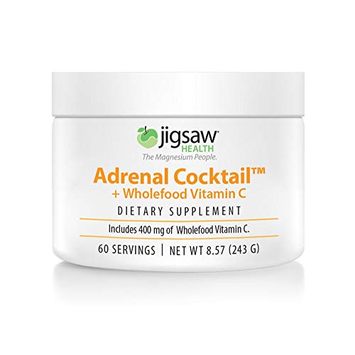 Jigsaw Health Adrenal Cocktail Jar with Wholefood Vitamin C, Potasium, and Redmon's Real Salt. Supports Adrenal Glad Function and Combats Adrenal Fatigue (Chocolate Cake Mix With Sour Cream Added)