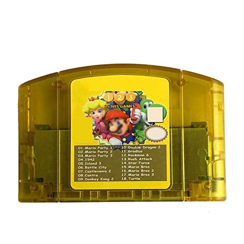 (BrotheWiz Nintendo N64 Games Game Cartridge - US 18 In 1 Game Card For Nintendo N64 Mario Party 1 2 3 Aggregation 15 NES Edition Support Game Saves Game Memory Card)