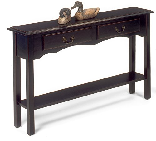 Heartwood Crossing 1900-29B Console Table, 46″ W x 10″ D x 28″ H, Black