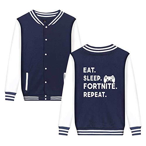Stampate Aivosen Leggera Unicorno Baseball Fortnite Casual Semplice Comode Unisex Blue6 Sweatshirts Da Moda Giacca pwwUzTtq