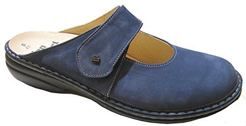 Finn Comfort - Zuecos para mujer Azul Denim