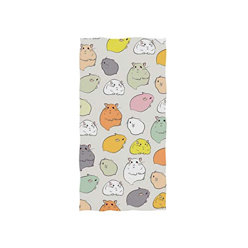 WETYUGHF Hamster Animal Wallpaper Rodents Towels Ultra Soft Face Towel Microfiber Sport Quick-Dry Washcloth 30 x 15 inch