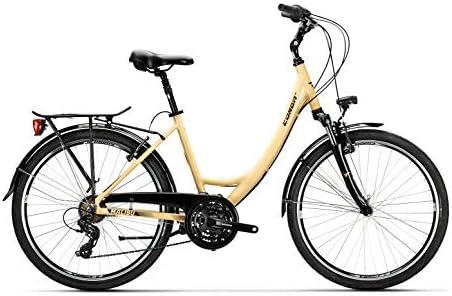 Conor Bicicleta Malibu Mixta Crema WM. Bicicleta para Ciudad Dos ...