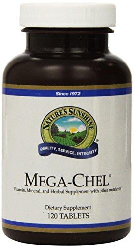 NATURE'S SUNSHINE Mega-Chel Supplements, 120 Count