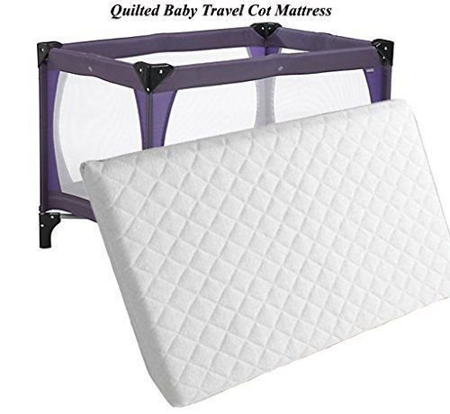 Thick Travel Cot Mattress to fit Red-Kite, Graco. 95 x 65 x 13 cm (FF) Quilted Breathable Anti allergenic - UK Made Rainbow