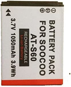 2x BATTERY INTENSILO 1000mAh FOR Soocoo Action Cam AT-S60
