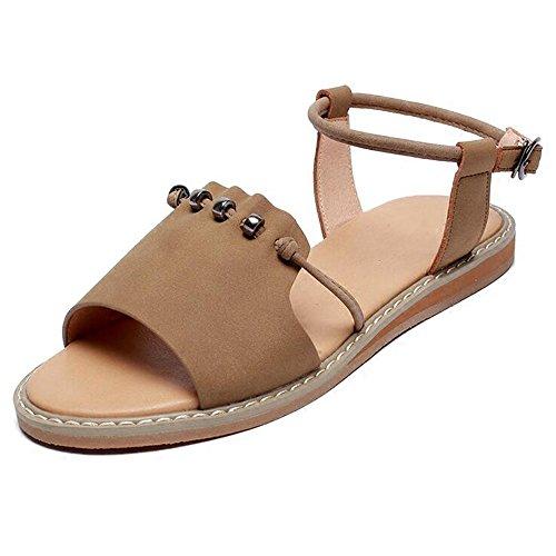 XIAOLIN シンプルなフラットボトムサンダル女性の夏のファッション学生女性のサンダル女性の夏のビーチシューズユニークなデザインスタイルの弾性サンダル(オプションのサイズ) (色 : イエロー いえろ゜, サイズ さいず : EU39/UK6.5/CN40)