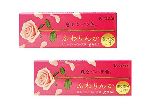 Japanese Fuwarinka Kracie Beauty Rose Gum