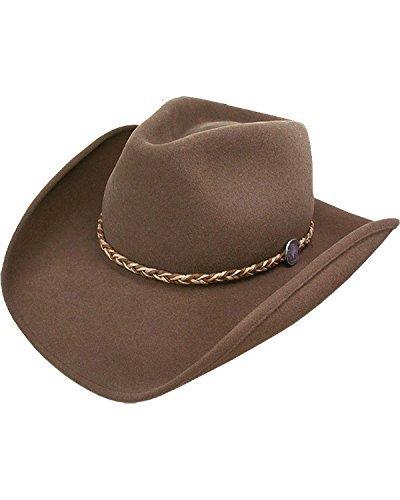 Stetson Men's Rawhide 3X Buffalo Felt Hat Mink - Fur 3x Buffalo