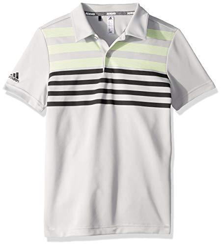 adidas Golf Chest Stripe Fashion Polo, Grey Two, ()