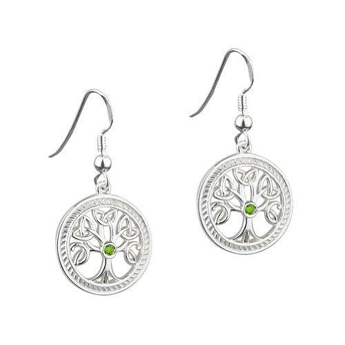 Solvar Sterling Silver Irish Celtic Tree of Life Earrings by The Irish Store - Irish Gifts from Ireland