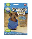 Snuggie for Dogs Blue Colored Fleece Blanket Coat with Sleeves – Small, My Pet Supplies