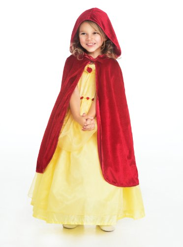 Little Adventures Traditional Hooded Princess Cloaks (Red, S/M Age 1-5) -