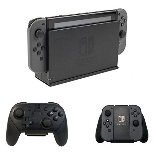 HIDEit Switch Mount - Nintendo Switch Dock Wall Mount + (2) Controller Mounts Bundle - Made in The USA
