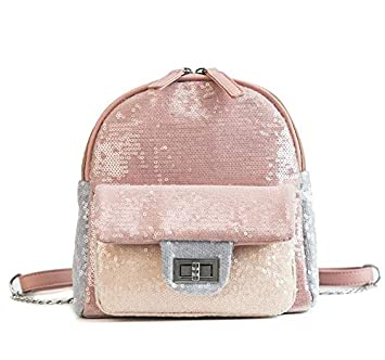 7a1299542b1 MOCA Sequins Mini Small Backpack Daypack for Womens Girls Mini Small  Travelling Outdoor Picnic School College Office Casual Daily use Daypack  Backpack ...