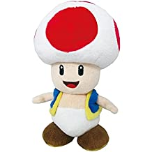 Little Buddy Super Mario All Star Collection 1417 Toad Stuffed Plush, 7.5""