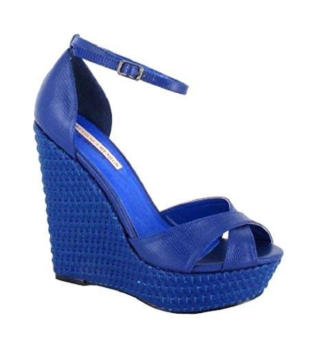 Sandalias Piel Vestir De Menbur Para Azul Mujer 0Ba1w4qx4