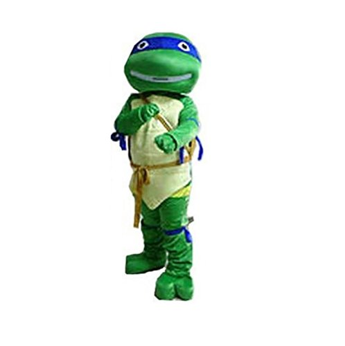 [Ninja Turtles Leonardo Blue Mascot Costume Adult Size For Birthday Girl or Boy Party Event Halloween] (Girl Ninja Turtle Halloween Costumes)