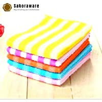 sakoraware® Kitchen Dish Cleaning Cloth Microfiber Towel Hand Napkin Table Wipe (40x40 cm), Set of 4, Multicolour