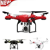 2.4G Altitude Hold RC Quadcopter WIFI 720P HD Camera Drone App Control, Headless Mode, One Key Take Off/Return (Red)