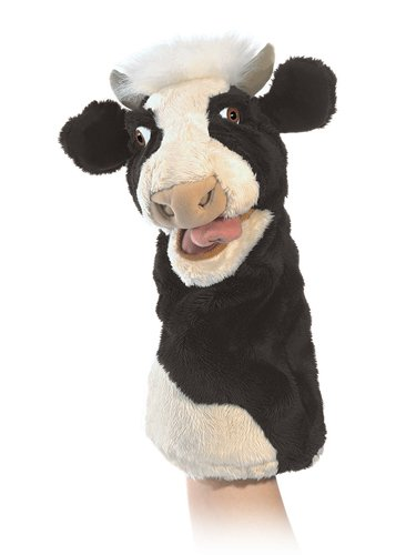 Stage Stage Puppet Puppet (Folkmanis Moo Cow Stage Puppet)