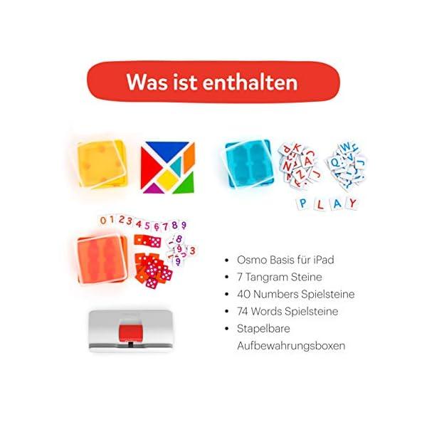 OSMO 901-00041 Genius Starter Kit (Versione tedesca) – Include 5 diversi mondi di apprendimento per bambini da 6 a 10 anni di base e riflettore inclusi 6 spesavip