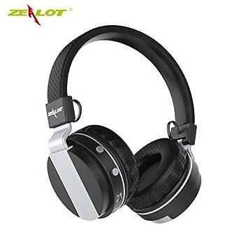 B17 - Auriculares inalámbricos con micrófono para Radio FM y Bluetooth 4.0 Negro