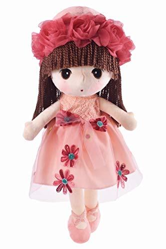 HWD Kawaii Flower Fairy Stuffed Soft Plush Toy Doll Girls Gift , 18 Inch ( Pink -