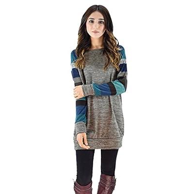 Striped Shirt,Toimoth Fashion Women Loose Splice Long Sleeve Casual Blouse Tops