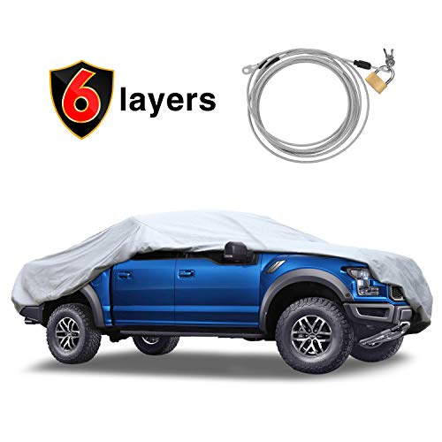KAKIT 6 Layers Truck Cover - Windproof Waterproof All Weather, for Summer...
