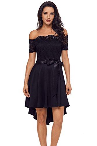 Abendkleider kurz elegant schwarz