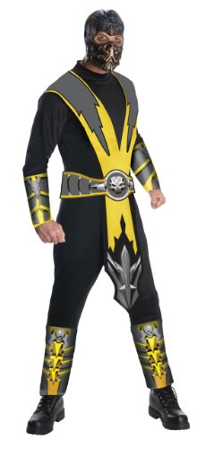 Mortal Kombat Adult Costume Scorpion - (Mortal Kombat Ninja Costume)