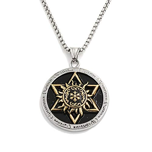 Tornado Star of David Pendant Necklace Women Men Chain Stainless Steel Israel Necklaces Six-Pointed Star Jewish Religion