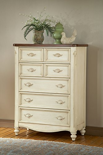 - American Woodcrafters Chateau Five Drawer Chest