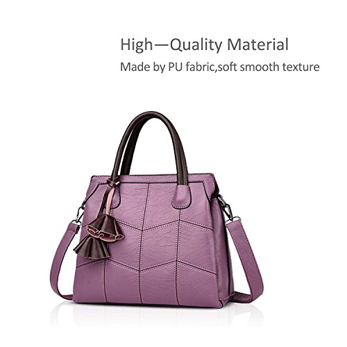 Handbags Handbag Trendy Fashion Atmosphere B Female Blue Female Purple Simple amp;DORIS NICOLE Woman Bag New Citron Leather Handbags Bag Shoulder for B5a5vwFqx