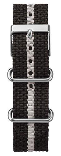 Timex Watch Bands T7B893GZ 20mm Weekender Nylon Black Watch Strap (Timex Strap 20mm)