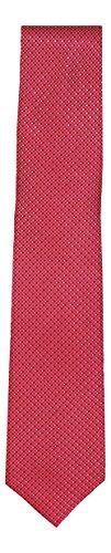 Perry Ellis Khaly Mini Neat Check 100% Silk Men's Neck Tie (Red, One Size) Perry Ellis Silk Shirt