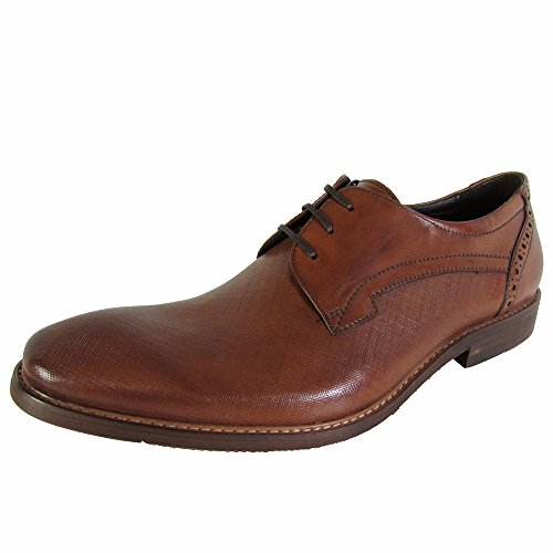 Kenneth Cole New York Mens Lucky Dice Lace Up Oxford Scarpe Cognac